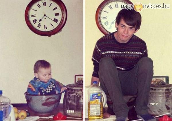 Újrakészített gyermekkori fotók