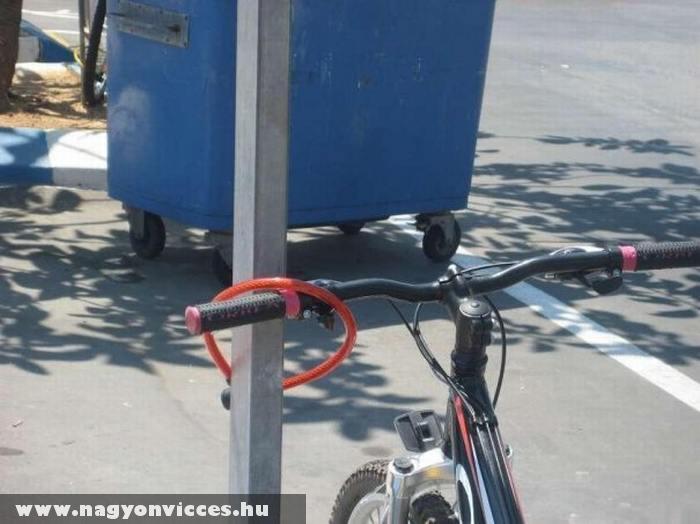 Biztonságos bicikli lezárás