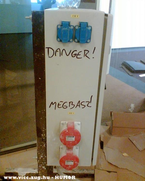 Munkavédelmi figyelmeztetés
