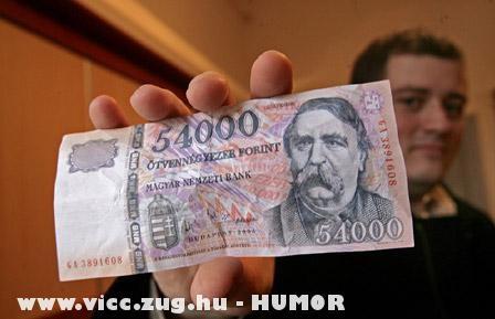 54 ezer forintos bankjegy