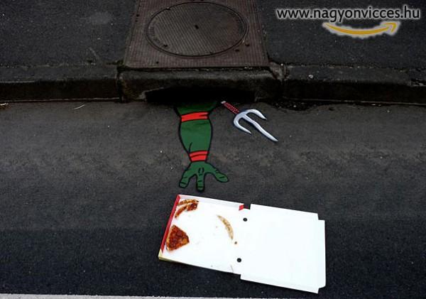 Street Art és Tini Ninja Teknőcök.