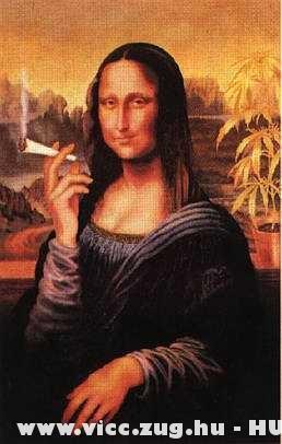 A Mona Lisa be van szíva