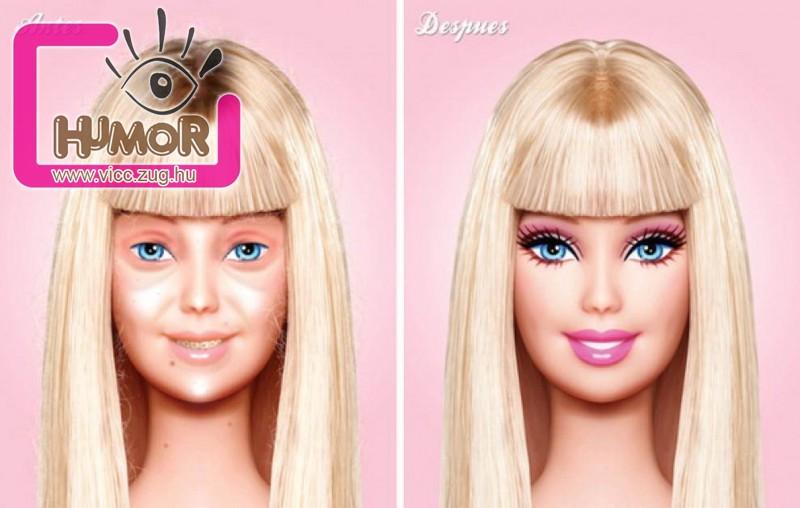 Barbi kezelés előtt és után :D