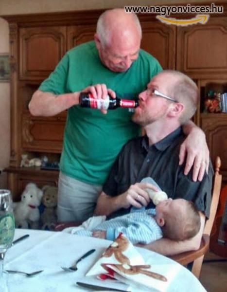 3 generáció együtt