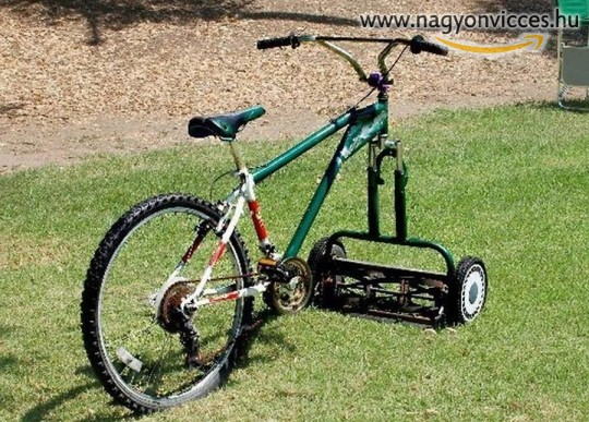 Biciklis fűnyíró