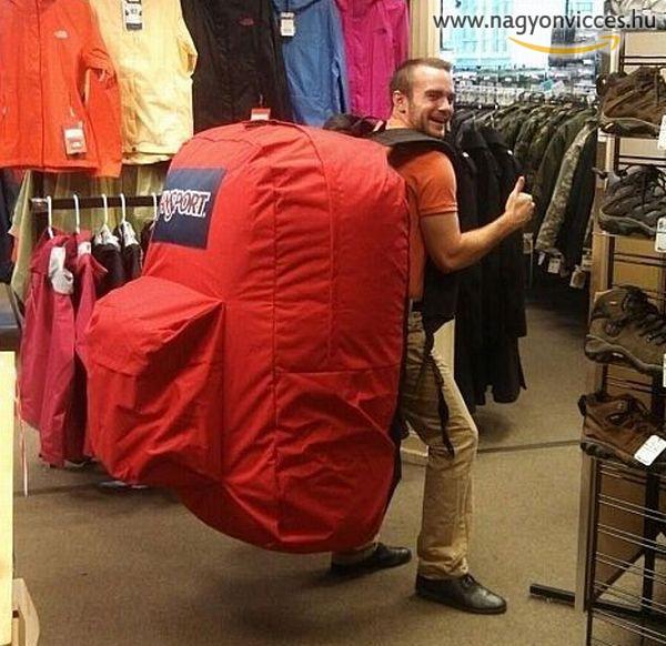 Ebbe a táskába aztán lehet pakolni...