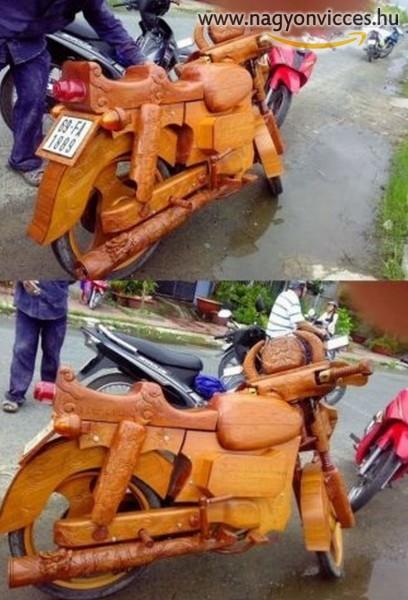 Fából készült motor
