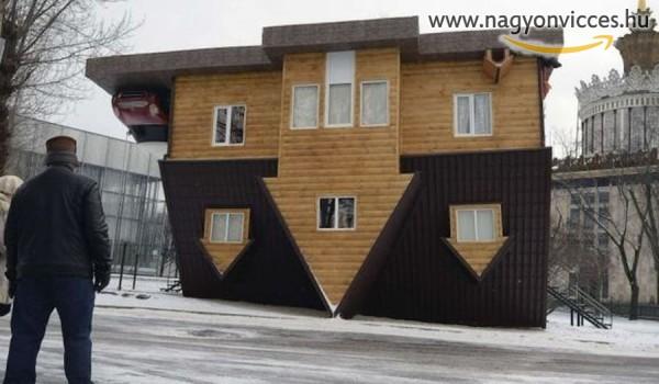 Feje tetejére állt ház