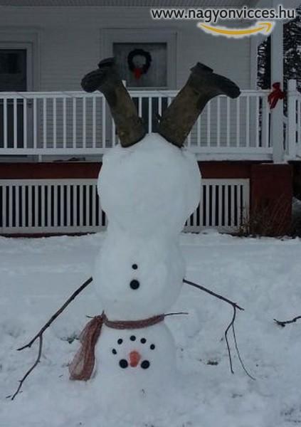 Fejreállt hóember