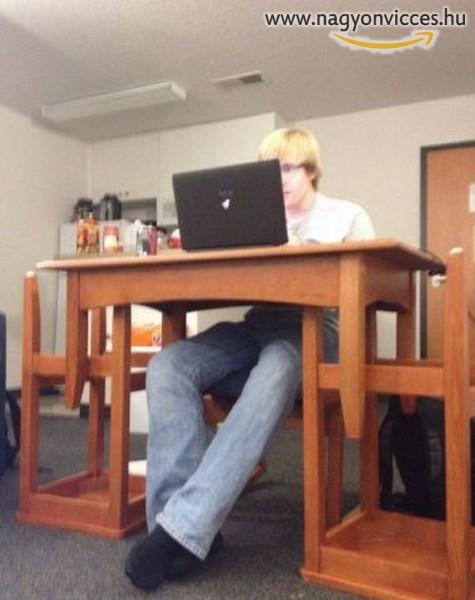 Ha túl alacsony azt asztalod...