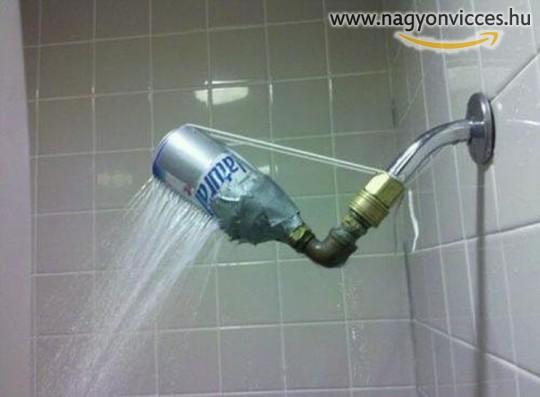 Házi gyártású zuhany