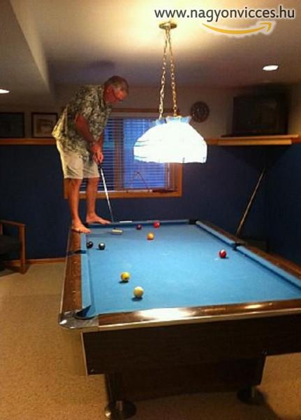 Így kell billiárdból golfot csuinálni