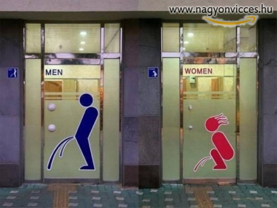 Látványos WC ajtó