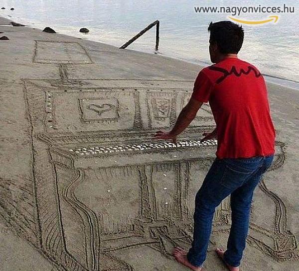 Zene a strandon