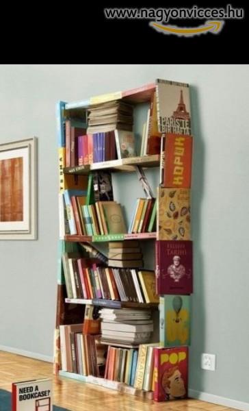 Hogy készítsünk könyvespolcot olcsón, házilag