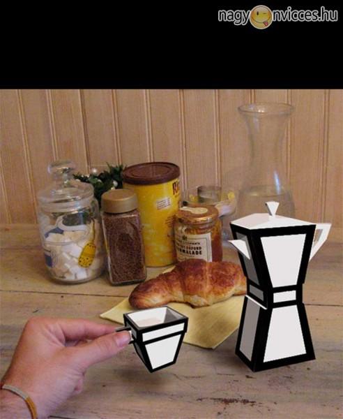 Kávéskészlet kockáknak