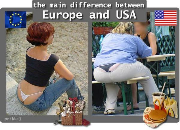 különbség- Europe-USA