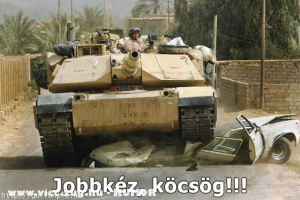 A tank erõsebb a KRESZ-nél