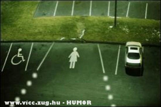 Parkolóhely nõknek