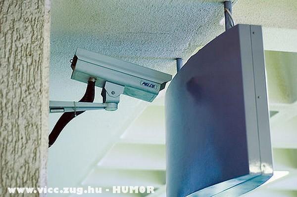 Profin beállitott biztonsági kamera