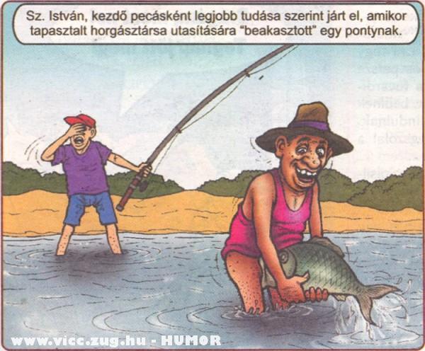 Kezdõ horgász !