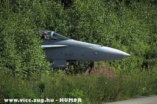 Lopakodó üzemmodban a vadászgép