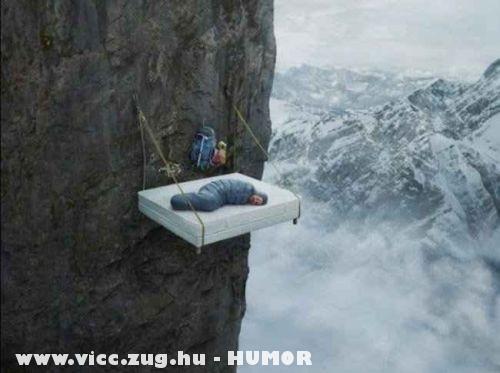 Megfáradt hegymászó