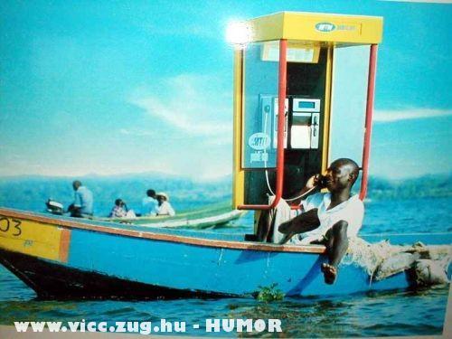 Telefonálás a tengeren