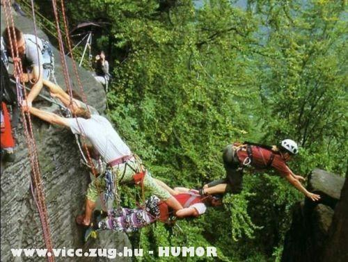Bátor hegymászók