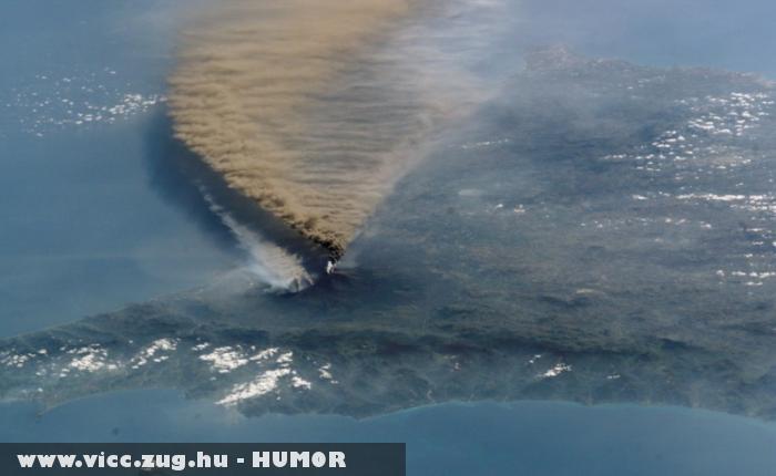 Mûhold kép az Islandi vulkánról 2