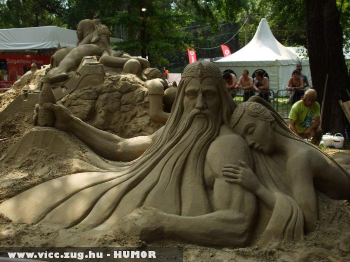 Poseidon homokból