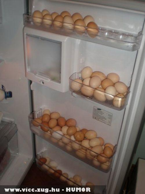 Ebben a drágasában lehet ,hogy csak tojást eszünk