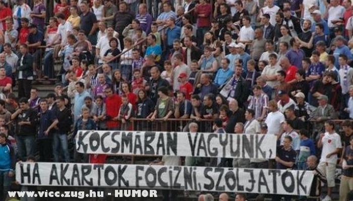 Üzenet a szurkolóktól a focistáknak
