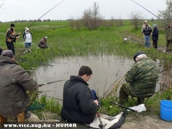 Horgásznak a pocsolyából?