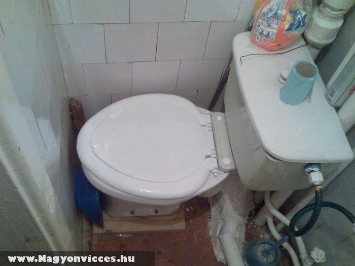 Gondosan kivitelezett WC