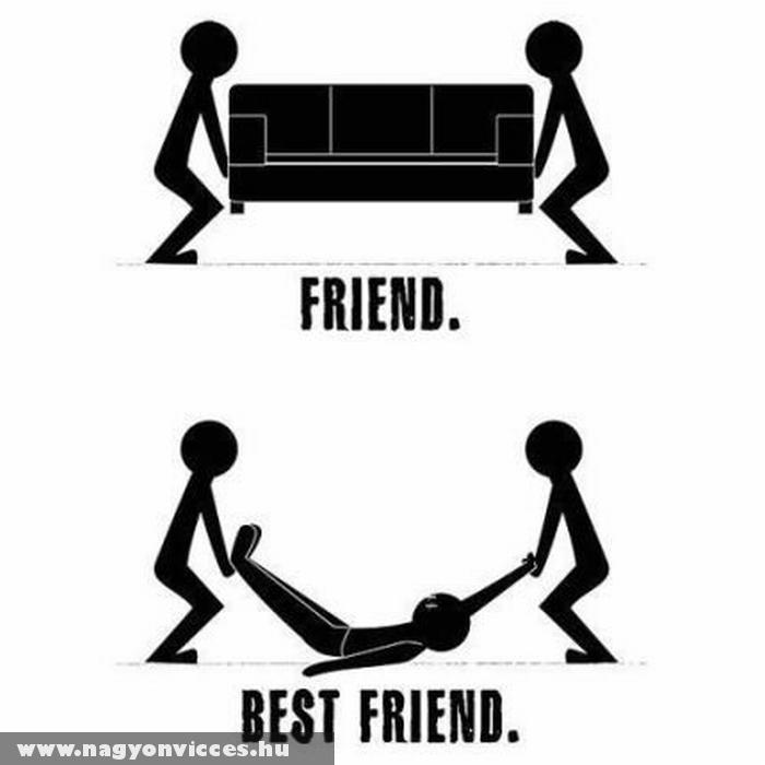 A barát és a legjobb barát