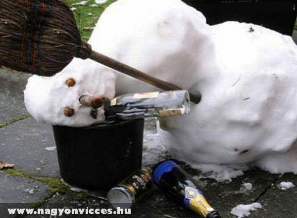 Részeges hóember
