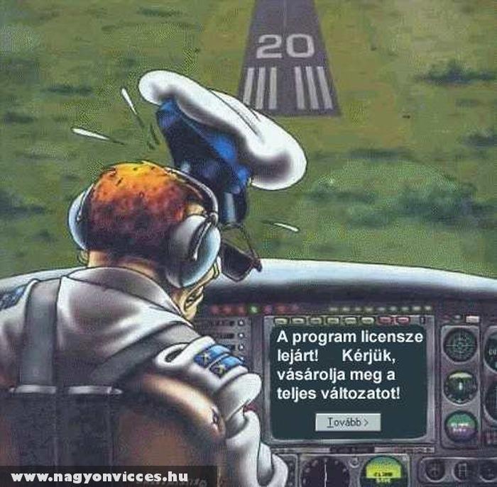 Lejárt a szoftver a repülõn