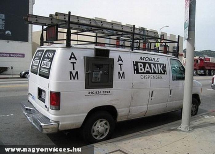 Mozgó ATM autómata