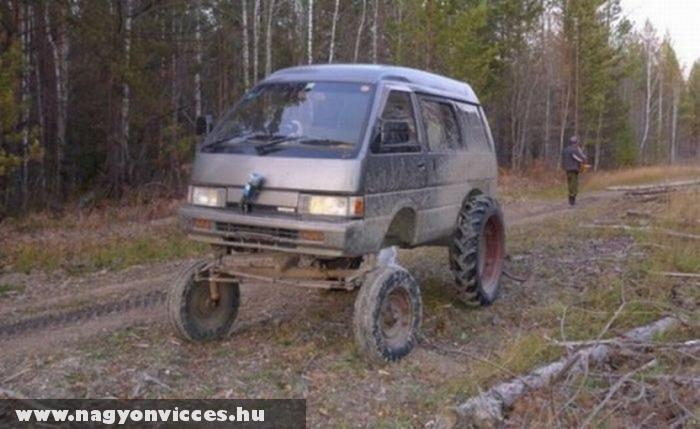 Terepesített kisteherautó
