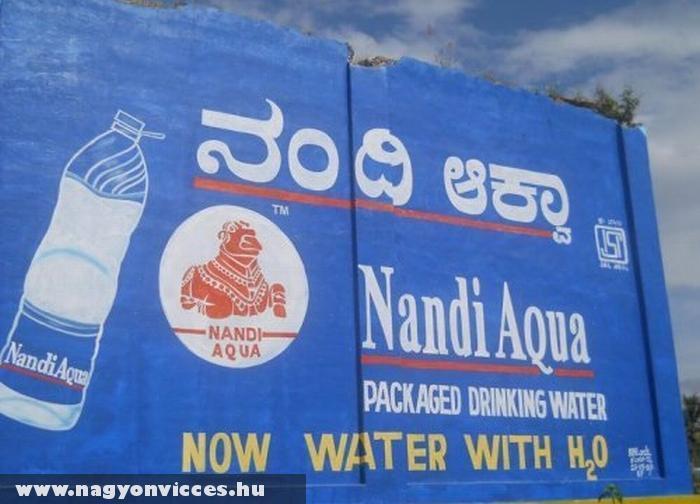 H2O-val dúsístott víz