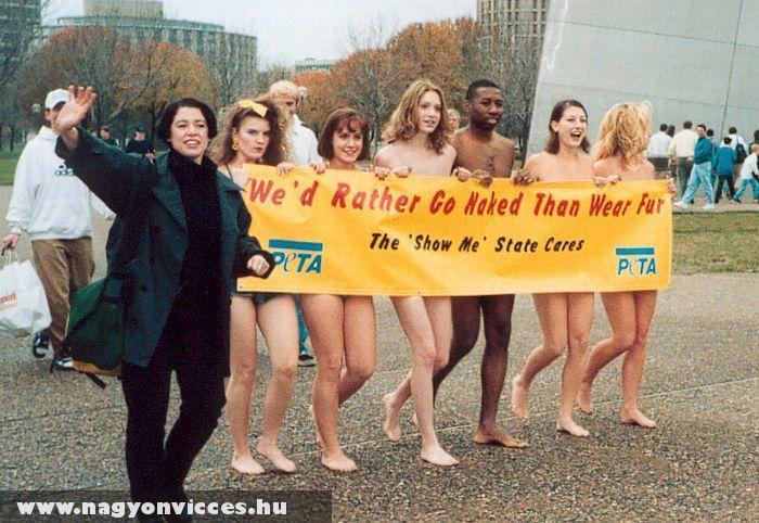 Tiltakozás a szörmék ellen