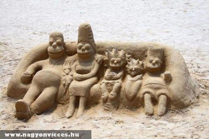 Simpson család homokból