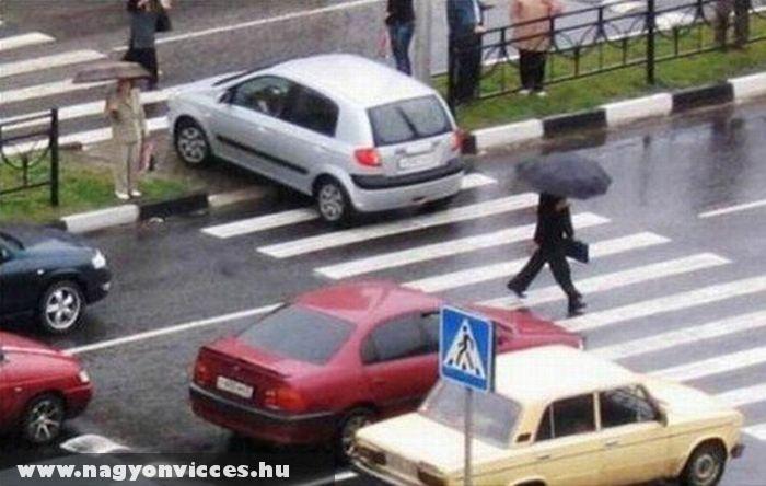 Az autós kicsit eltévedt