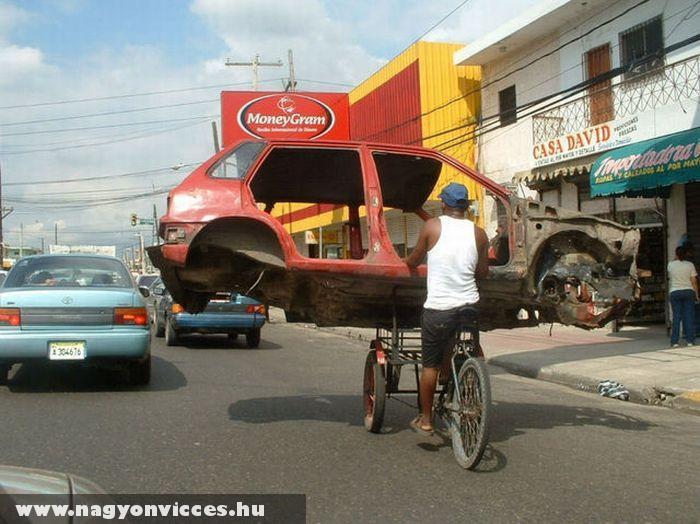 Autószállítás biciklivel
