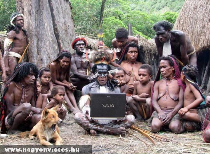 Laptop a vadonban