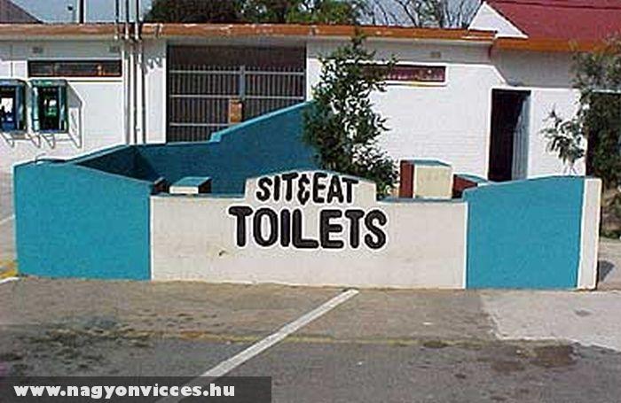 Ülj le és egyél.....a WC-n?