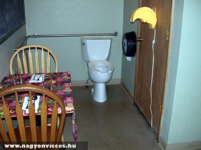 WC az ebédlõben