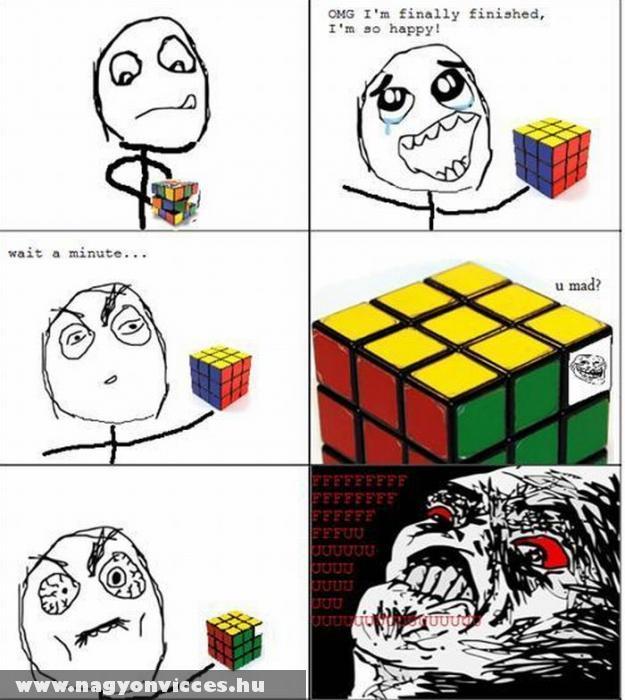 A Rubik-kocka nyomorba dönt