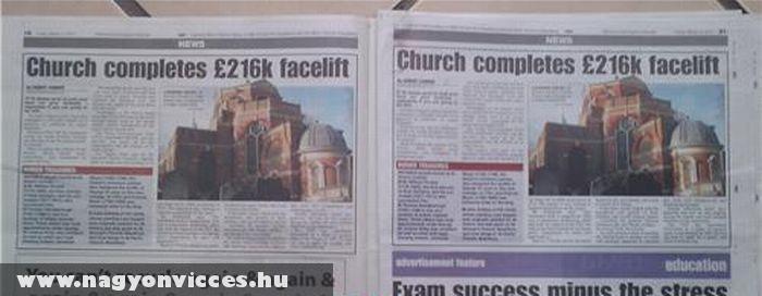 Az újság két oldala